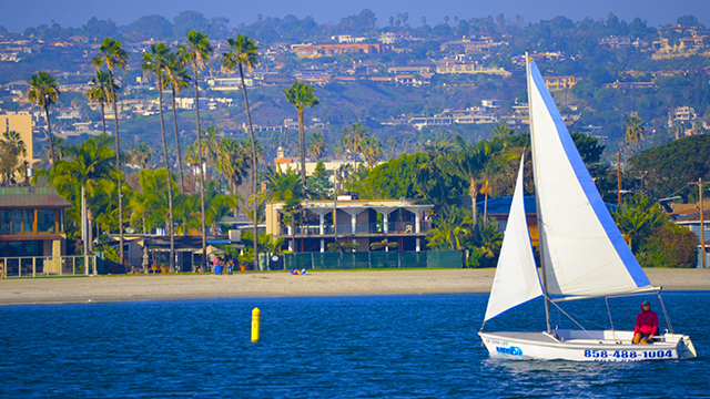 Catalina 14.2 rental sailboat port view