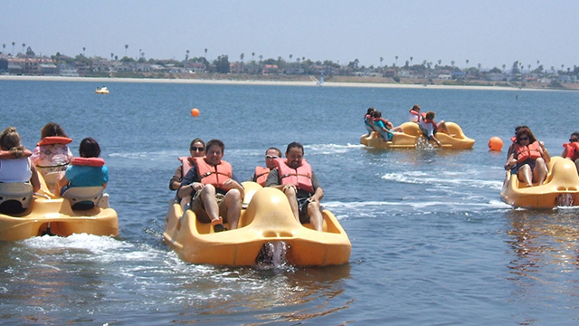 Pedal boat rental water view