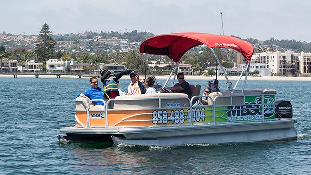 Pontoon Boat Rental | Image 2 | MBSC San Diego, CA