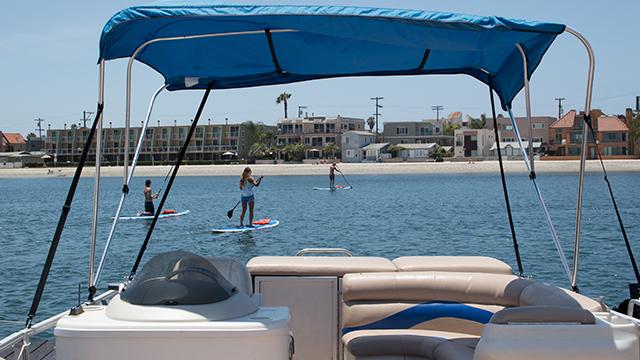 Pontoon Boat Rental | Image 5 | MBSC San Diego, CA