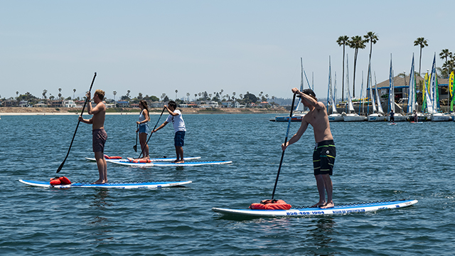 Stand Up Paddleboard rental wide view