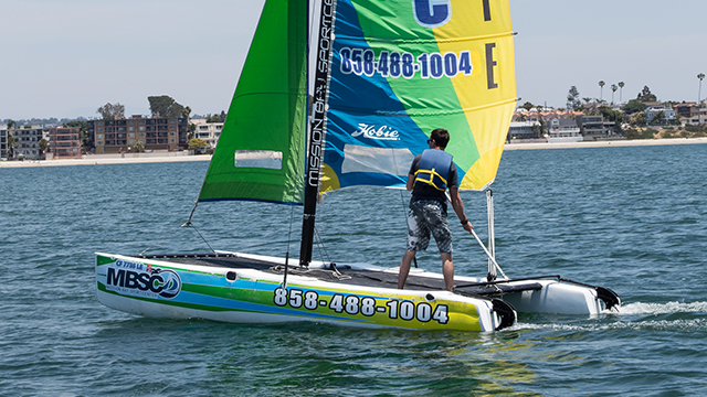 Hobie Wave Catamaran rental port view