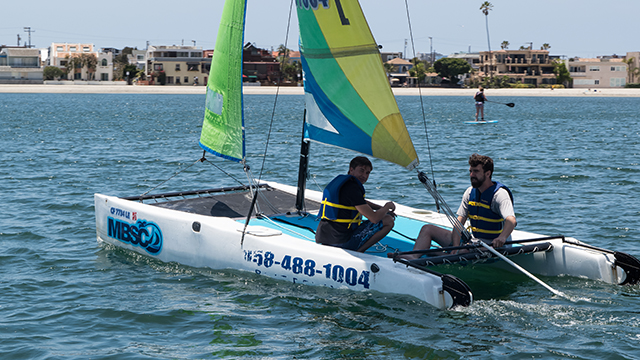 Hobie Wave Catamaran rental stern view