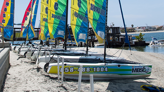 Hobie Wave Catamaran rental beach view